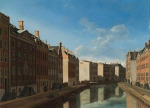 RIJKS: Gerrit Adriaensz. Berckheyde: The 'Golden Bend' in the Herengracht, Amsterdam, Seen from the East 1672