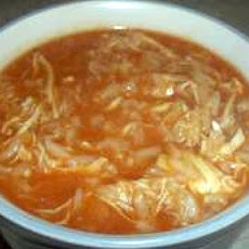 Zesty Chicken Soup with Tomatoes and Rice