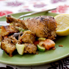 Sumac Chicken with Bread Salad Recipe