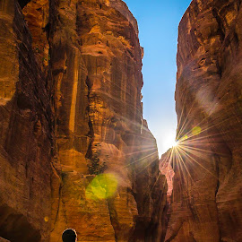 sunshine at petra by Majdi Alqudah - Landscapes Mountains & Hills ( jordan, shine, landscape, sun, petra )