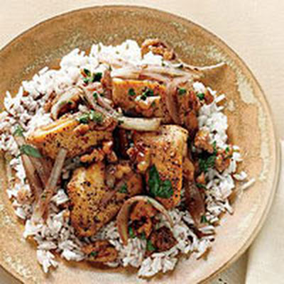 Pomegranate Chicken with Walnuts