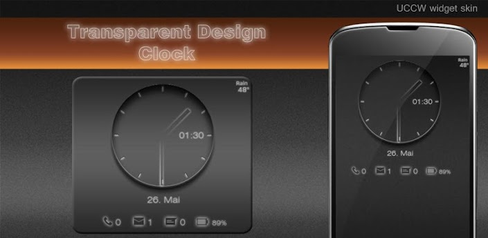 Transparent Clock UCCW skin v1.0