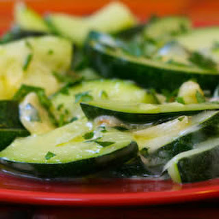 Cheesy Zucchini with Garlic and Parsley