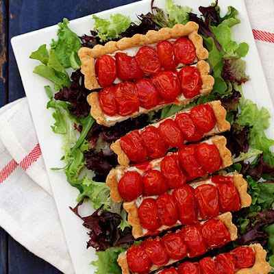 Roasted Cherry Tomato Tart