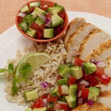Cumin-Rubbed Chicken with Avocado Salsa