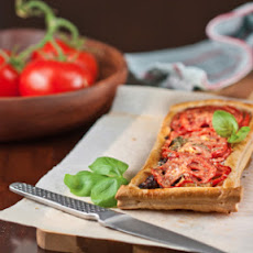 Caramelised Onion, Tomato and Basil Tart