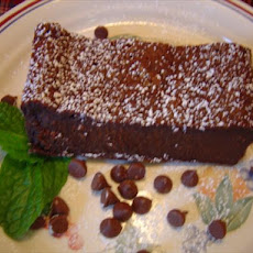 Sinfully Rich Almost Flourless Chocolate Cake
