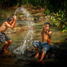 Fish on... by Firman Tirtawidjaja - Babies & Children Children Candids (  )