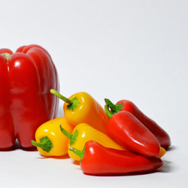 peppers by Kim Rogers-Krahel - Food & Drink Fruits & Vegetables ( dining room, peppers, kitchen, vegetable )