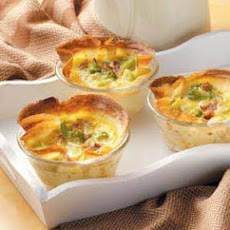 Broccoli Quiche Crepe Cups