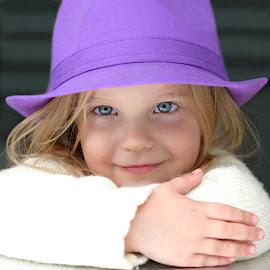 Purple hat by Lucia STA - Babies & Children Child Portraits