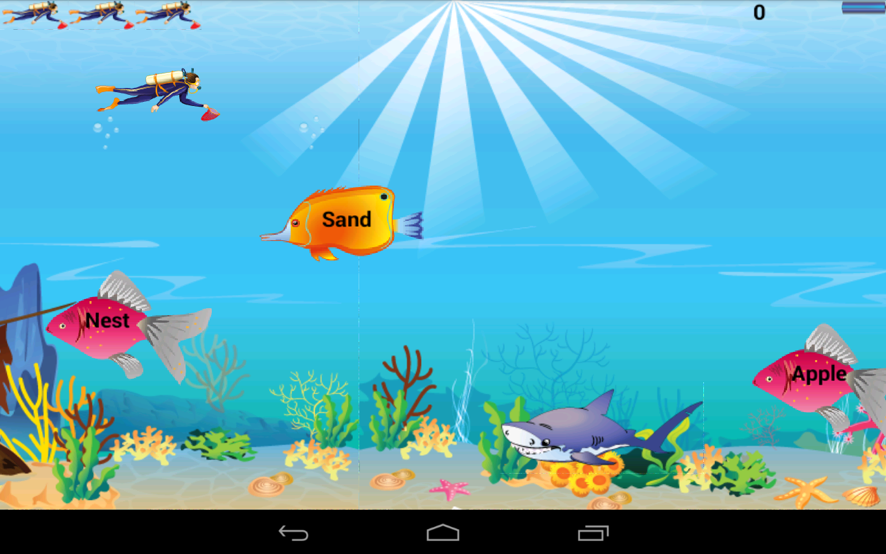 Download kids english grammar fish game for pc for Gold fish game
