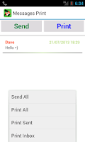 Screenshot of Messages Print - SMS Print txt