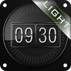Glass clock. widget. LIGHT. icon