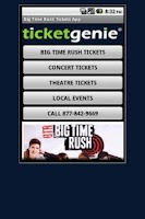 Screenshot of Big Time Rush Tickets