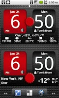 Screenshot of FlipClock AhMan RED 4x2