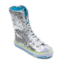 Skechers Long Twinkle Toe High Top HIGH TOP TRAINER