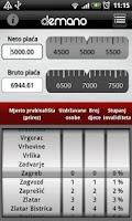 Screenshot of DEMANO izračun plaća