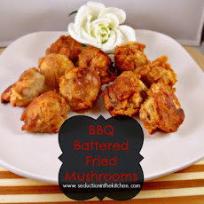 BBQ Battered Fried Mushrooms