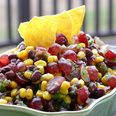 Grape, Corn & Black Bean Salsa