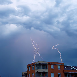 neighbor lightning by Гојко Галић - News & Events Weather & Storms ( lightning, day, neighbor, storm, close )