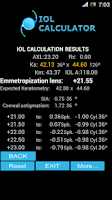 Screenshot of IOL CALCULATOR