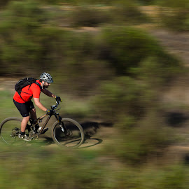Spring Speed by Robert Aaronson - Novices Only Sports ( mountain biking spring, Bicycle, Sport, Transportation, Cycle, Bike, ResourceMagazine, Outdoors, Exercise, Two Wheels )