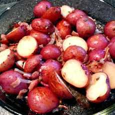 Roasted Garlic Fingerling Potatoes With a Touch of Bacon