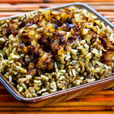 Mujadarra (Middle Eastern Lentils and Rice with Caramelized Onions)