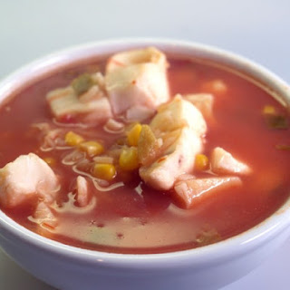 Tex-Mex Seafood Chowder Soup With Corn