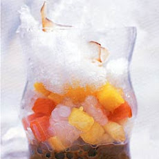 Coconut and Palm Sugar Syrup with Tapioca, Tropical Fruit, and Shaved Ice