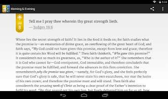 Screenshot of Morning & Evening Devotional