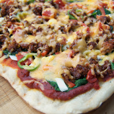 Grilled Enchilada Pizza