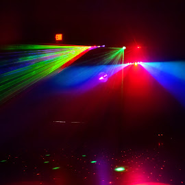 Lights at School Dance for Kids by Linda Blevins - Abstract Patterns ( lights, red, blue, green, beautiful )