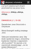 Screenshot of Lekcjonarz. Słowo Boże na dziś