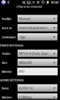 Screenshot of ARMV6 VFP Vidcon Codec