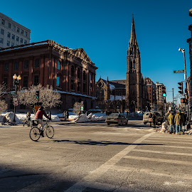by Michael Last - City,  Street & Park  Street Scenes