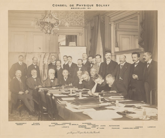 Marie Curie at the first Solvay Conference, 1911
