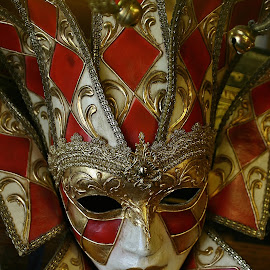 Jokers Wild by Alvin Simpson - Artistic Objects Other Objects ( red, joker, mystery, mask, theater )
