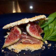Parmesan Wafers With Prosciutto and Figs
