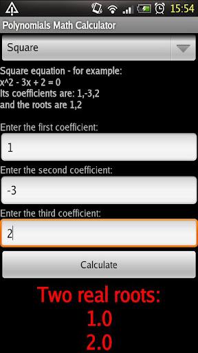 Polynomials Math Calculator