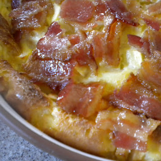 Bread Pudding with Apple and Brown Sugared Bacon