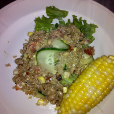 Quinoa and Black eyed pea salad