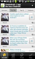 Screenshot of Live Android: Tchat & Forum FR
