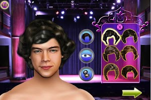 Screenshot of Celebrities Dress up - Harry
