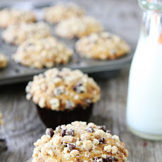 Pumpkin Toffee Chocolate Chip Muffins