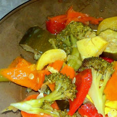 Dijon Dressed Slow Cooked Veggies