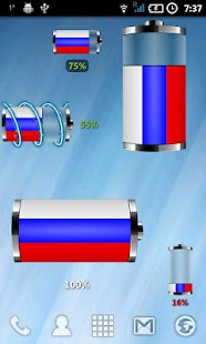Russia - Flag Battery Widget - screenshot