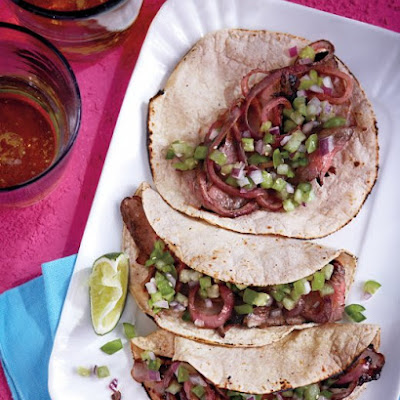 Chile-Spiced Steak and Grilled Onion Tacos
