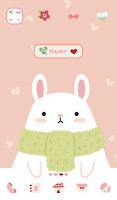 Screenshot of rabbit and carrot dodol theme